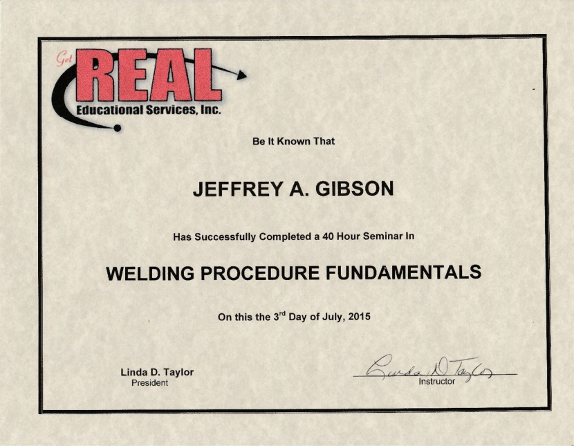 Jeffrey Gibson Welding Procedures Fundamentals