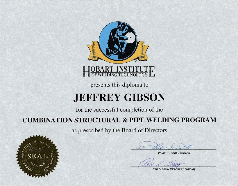 jeffrey gibson aws certified welding inspector  u0026 nace